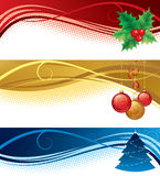 Bandiere di natale Fotografia Stock