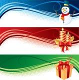 Bandiere di natale Fotografie Stock