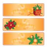 Bandiere di natale impostate Fotografia Stock