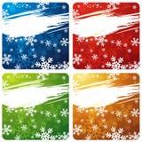bandiere di natale, vettore Immagine Stock