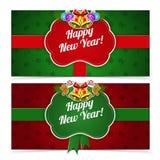 Bandiere di nuovo anno Immagine Stock
