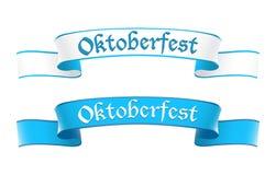 Bandiere di Oktoberfest nei colori bavaresi Immagini Stock Libere da Diritti