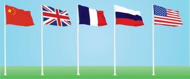 Bandiere di ONU royalty illustrazione gratis