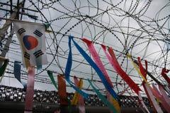 Bandiere di pace nel Sud Corea Immagini Stock