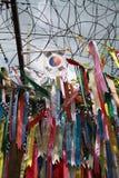 Bandiere di pace nel Sud Corea Immagine Stock Libera da Diritti