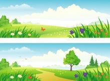 Bandiere di paesaggio Fotografia Stock