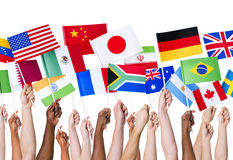 Bandiere di paese fotografie stock libere da diritti