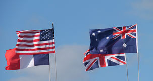 Bandiere di paese nazionali Fotografia Stock