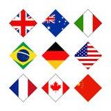 Bandiere di paesi del mondo illustrazione vettoriale