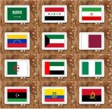 Bandiere di paesi dell'OPEC Fotografia Stock