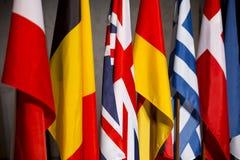 Bandiere di paesi dell'UE Fotografie Stock