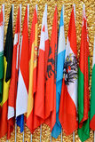 Bandiere di paesi insieme Fotografia Stock