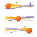 Bandiere di pallacanestro Fotografia Stock Libera da Diritti