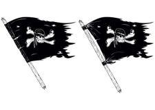 Bandiere di pirata illustrazione vettoriale