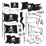 Bandiere di pirata Fotografia Stock Libera da Diritti