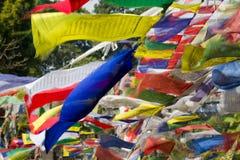 Bandiere di preghiera Immagine Stock
