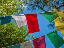 Bandiere di preghiera Fotografia Stock