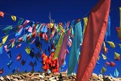 Bandiere di preghiera Immagini Stock