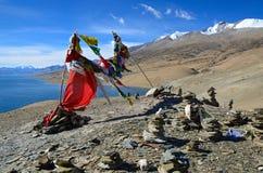 Bandiere di preghiera di Buddhis Immagini Stock Libere da Diritti