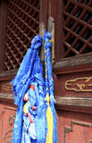 Bandiere di preghiera in Mongolia Immagini Stock