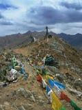 Bandiere di preghiera nello sfondo naturale Fotografia Stock Libera da Diritti