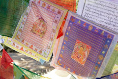 Bandiere di preghiera, Paro, Bhutan Immagine Stock