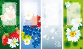 Bandiere di quattro stagioni Immagini Stock Libere da Diritti