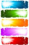Bandiere di turbinio Fotografia Stock