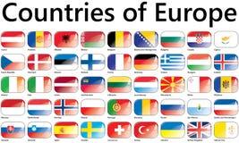 Bandiere di Unione Europea Immagine Stock Libera da Diritti