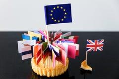 Bandiere di Unione Europea in un dolce Fotografia Stock Libera da Diritti