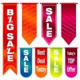 Bandiere di vendita Fotografia Stock