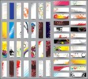 Bandiere di verticale dell'accumulazione della miscela Immagine Stock Libera da Diritti