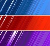 Bandiere di vettore Fotografia Stock