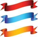 Bandiere di vettore Fotografie Stock