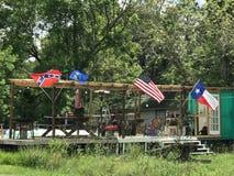 Bandiere di volo Fotografia Stock