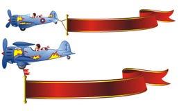 Bandiere di volo Immagini Stock