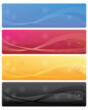 Bandiere di Web Fotografia Stock