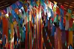 Bandiere e junina della decorazione del partito Fotografia Stock
