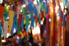 Bandiere e junina della decorazione del partito Immagine Stock