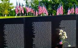 Bandiere e memoriale Immagini Stock Libere da Diritti