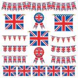 Bandiere e stamina della Gran Bretagna Fotografie Stock Libere da Diritti