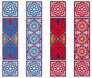 Bandiere egiziane del tessuto della tenda illustrazione vettoriale