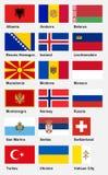 Bandiere europee - parte 2 Immagine Stock
