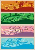Bandiere floreali Immagine Stock