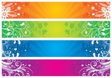 Bandiere floreali Immagine Stock Libera da Diritti