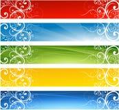 Bandiere floreali astratte Fotografie Stock Libere da Diritti