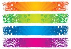 Bandiere floreali del grunge Fotografia Stock Libera da Diritti
