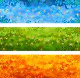 Bandiere floreali di vettore Immagine Stock Libera da Diritti