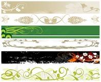 Bandiere floreali di Web site Fotografie Stock Libere da Diritti