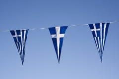 Bandiere greche Immagini Stock Libere da Diritti